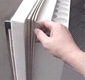 Уплътнението на вратата на хладилника проверка грижа